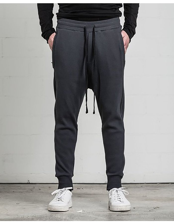 THOM KROM LOW CROTCH SWEAT PANT ZIP POCKET OIL