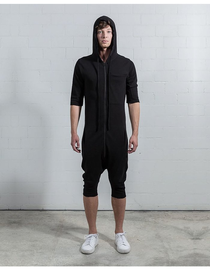 THOM KROM OVERALL WITH HOOD AND PATCHED POCKET