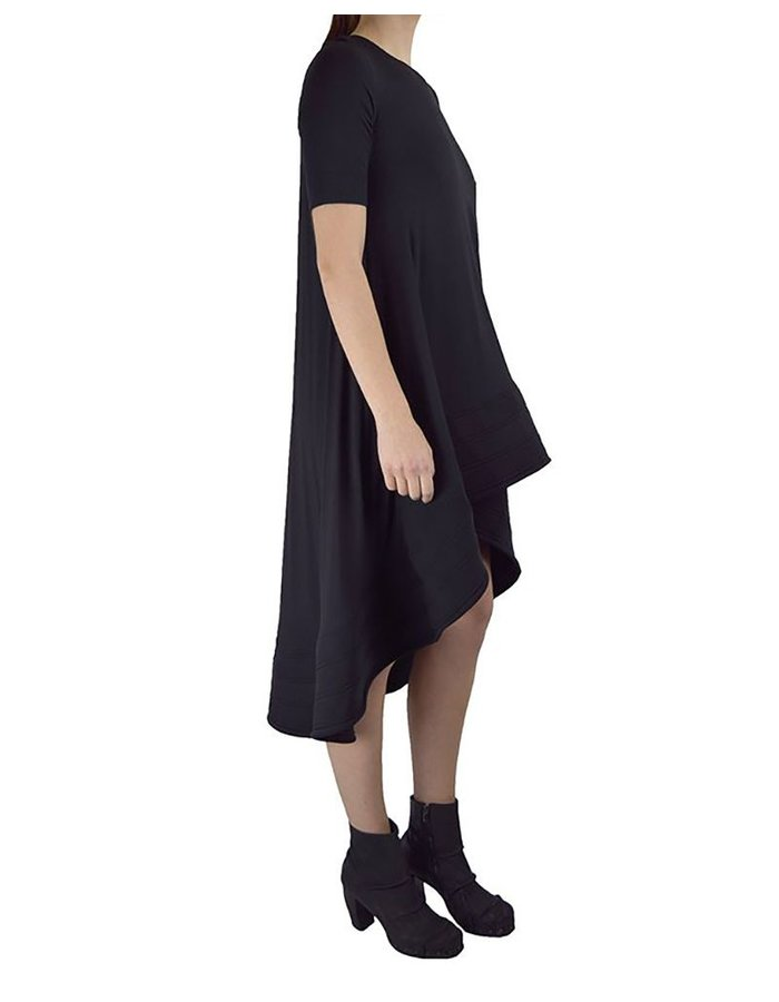 DAVID'S ROAD SHORT SLEEVE DRESS WITH STRUCTURED BOTTOM