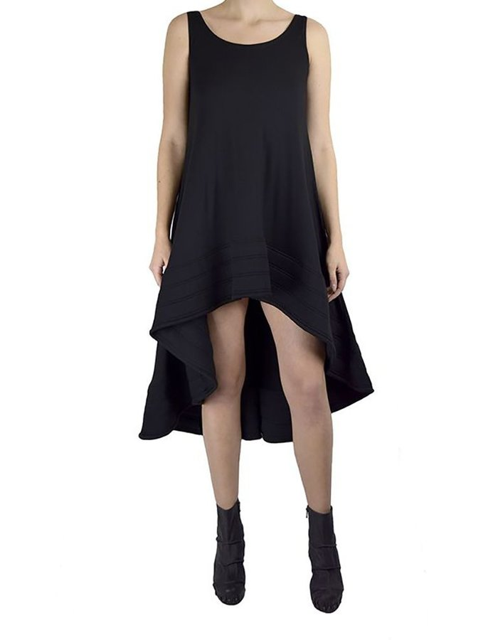 DAVID'S ROAD SLEEVELESS DRESS WITH STRUCTURED BOTTOM