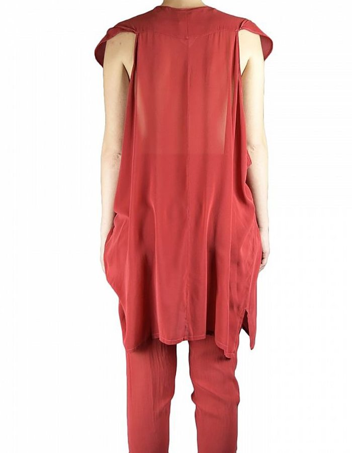 LOST AND FOUND TUNIC DRESS RED