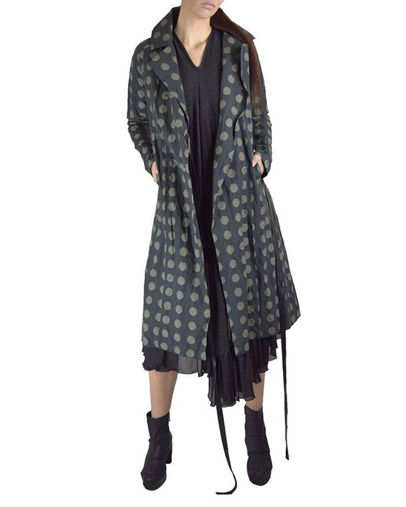 COTTON AND METAL FIRE LIGHT COAT