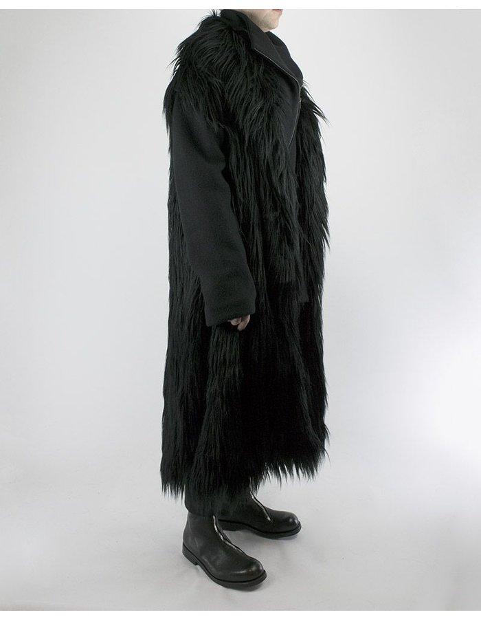 SANDRINE PHILIPPE LONG HAIR FAKE FUR COAT