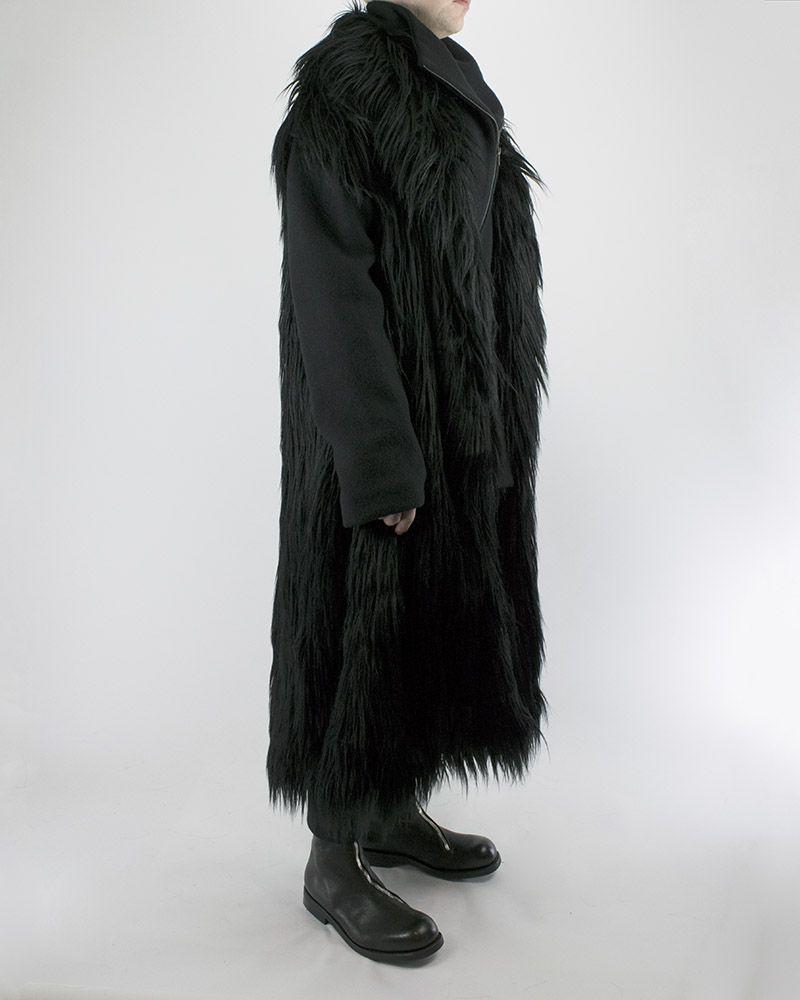 2c2a791af MEN'S LONG HAIR FAKE FUR COAT by SANDRINE PHILIPPE - SHOPUNTITLED