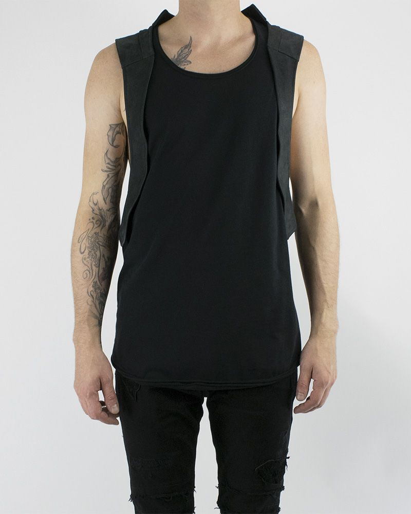 TANK W/ LEATHER VEST (SMOOTH)