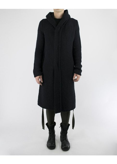 CULPA HOODED LONG KNIT CARDIGAN