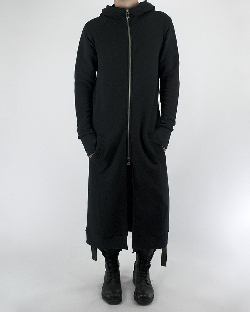 EXTRA LONG HOODED SWEATSHIRT