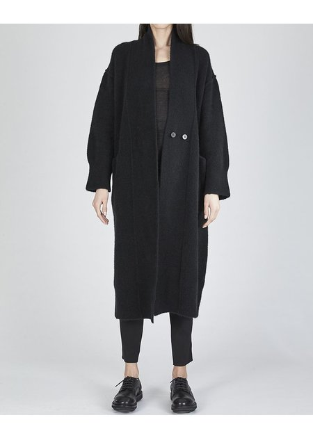 ISABEL BENENATO KNIT YAK LONG CARDIGAN