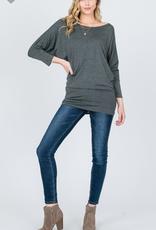 Emmas Closet Dolman 3/4 Sleeve Top