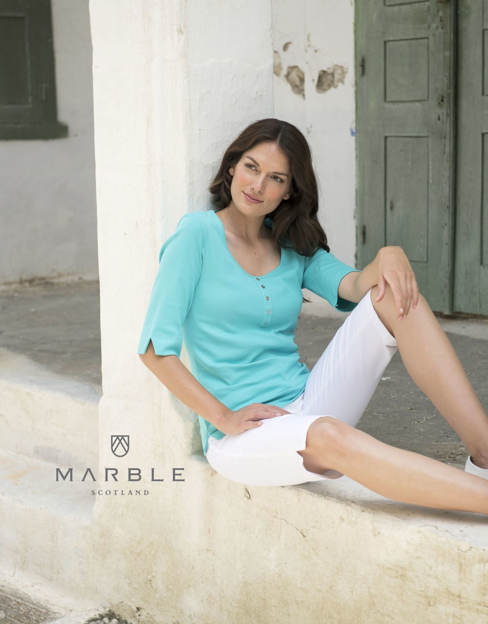 Marble MB-5662 Faux Henley Tee