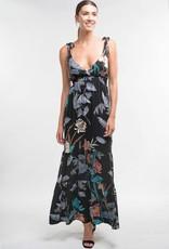 Printed Tie Shoulder Dress