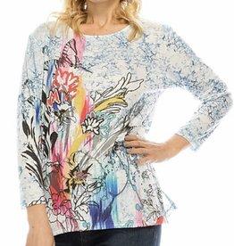 Katina Marie Style PRS2114-3 Poly/Rayon/Spandex 3/4 sleeve top