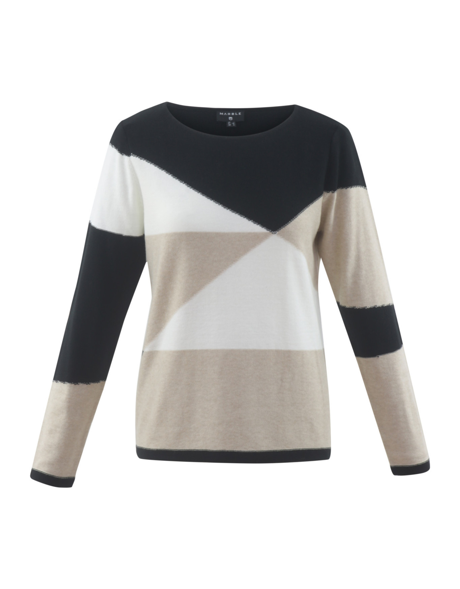 Marble Style 5670 Color Block Sweater