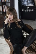 Marble Marble-5810 Off Shoulder Sweater w/Grommets