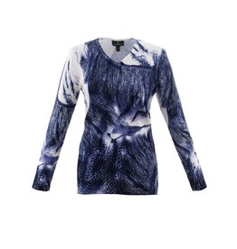 Marble Marble Fashions V-Neck Print Sweater