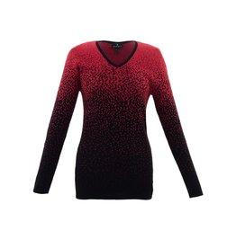 Marble Marble Fashions V-Neck Splatter Sweater