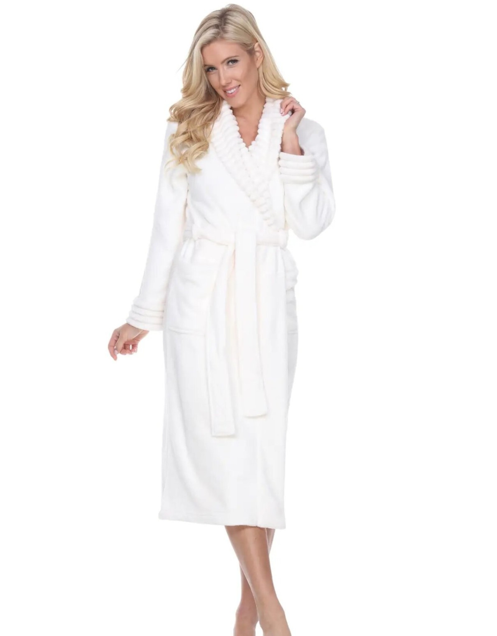 White Mark  Soft Lounge Robe