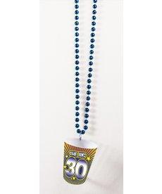 Shot Glass Birthday Beads: 30