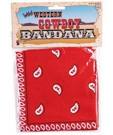Western Cowboy Bandana: Red