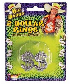 Big Daddy Dollar Rings (2pk)