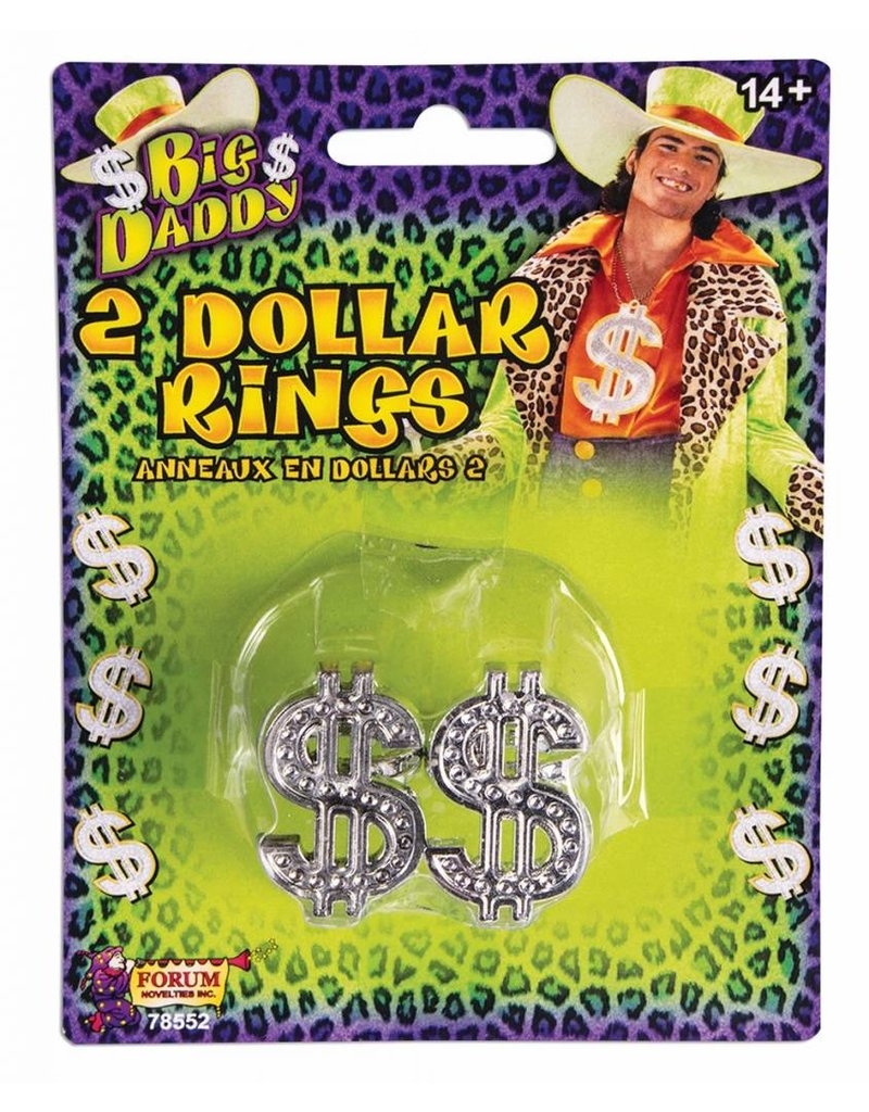 Big Daddy Dollar Rings (2pk)