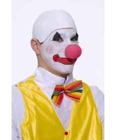 Clown Bald Wig: White
