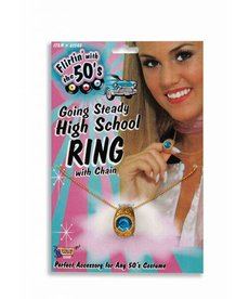 Going Steady High School Ring Necklace
