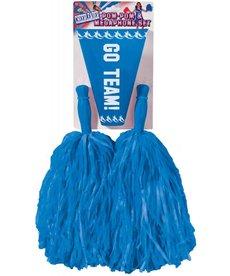 Cheer Pom Poms & Megaphone: Blue