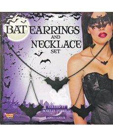 Bat Earrings & Necklace
