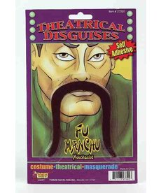 Black Fu Manchu Mustache
