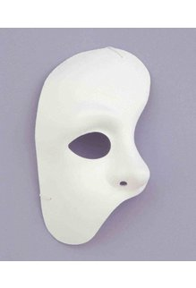 Phantom of the Opera Half Mask: White