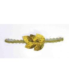 Roman Leaf Headband: Gold