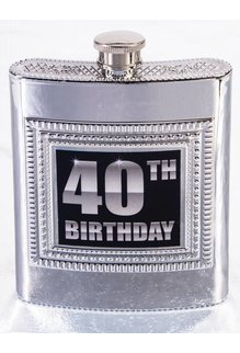 40th Birthday Flask