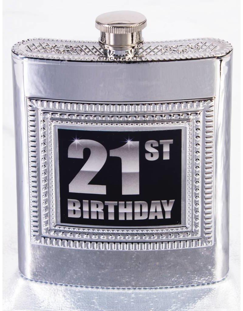 21st Birthday Flask