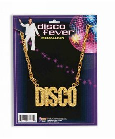 70's Disco Pendant Necklace: Gold