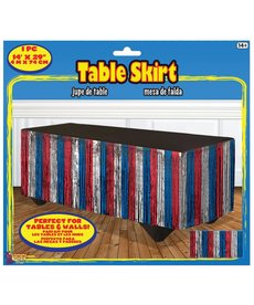 Red, White, and Blue Table Skirt