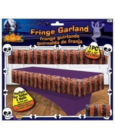 Orange and Black Fringe Garland