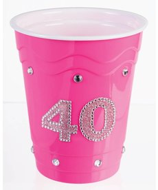 "Plastic Solo Cup ""40"" - Pink"