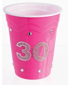 "Plastic Solo Cup ""30"" - Pink"