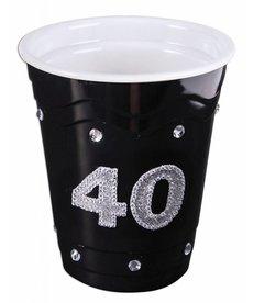 """Plastic Solo Cup """"40"""" - Black"""