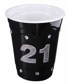 """Plastic Solo Cup """"21"""" - Black"""