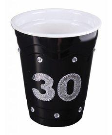 """Plastic Solo Cup """"30"""" - Black"""