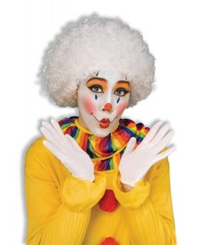 Adult White Clown Afro Wig