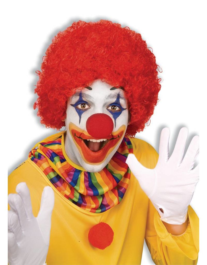 Adult Unisex Clown Afro Wig: Red