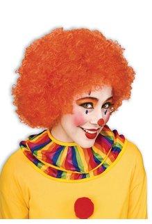 Adult Unisex Clown Afro Wig: Orange