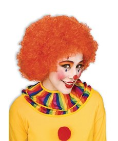 Adult Orange Clown Afro Wig