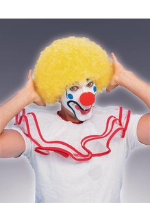 Adult Unisex Clown Afro Wig: Yellow