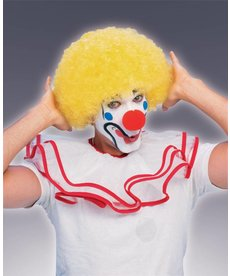 Adult Yellow Clown Afro Wig