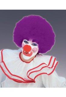 Adult Unisex Clown Afro Wig: Purple