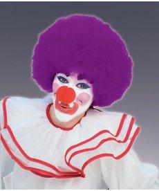 Adult Purple Clown Afro Wig